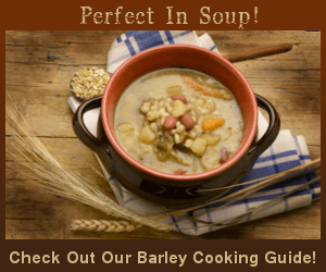 Perfect in soup! Visit our Barley Cooking Guide