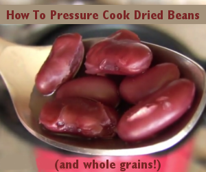 How To Pressure Cooker Dried Beans and Whole Grains
