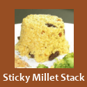 Sticky Millet Stacks