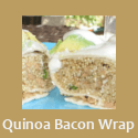 Quinoa Bacon Breakfast Wraps