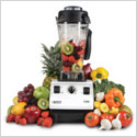 Vitamix filled with fruit