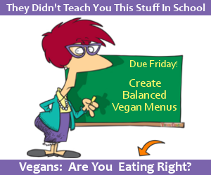 They didn't teach you this stuff in grade school.  Vegans: Are you sure you're eating right? - Click to learn more