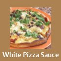 Pizza with a vegan white sauce