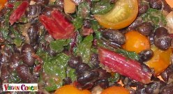 Sauteed Greens and Black Beans