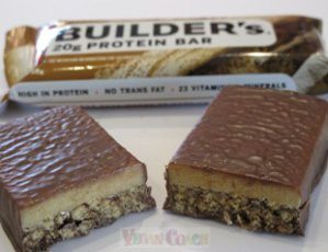 Clif Builders Bar cut in half