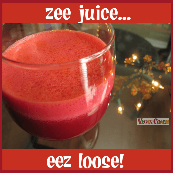Juicing helps you to get the nutrients of far more veggies/fruits than you could eat in one sitting. Super cleansing and nutritious. Learn more...