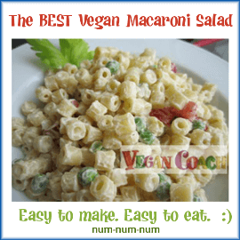 This is seriously the BEST vegan macaroni salad and it's so easy to make...