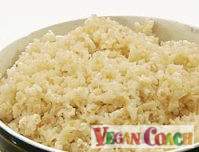 Photo of a bowl of brown rice