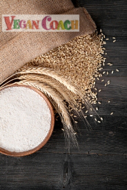 Photo of grains, wheat, and whole-grain flour