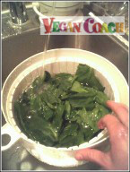Rinse your spinach