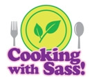 Cartoon of our Cooking With Sass Spring season plate with silverware