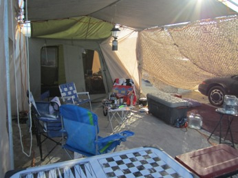 Our camp from the inside