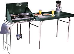 Camp table with spot for stove