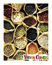 Variety of beans and lentils