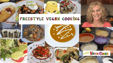 Freestyle vegan cooking is TASTY, EASY, INSPIRING, CREATIVE and FUN!