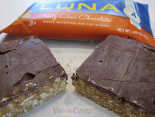 Luna Bar cut in half