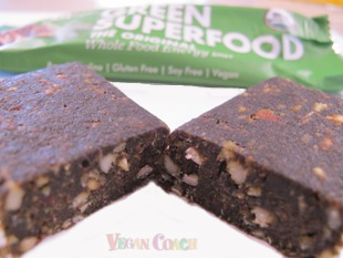 Green Superfood Bar cut in half
