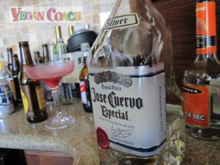 An almost-empty bottle of Jose Cuervo