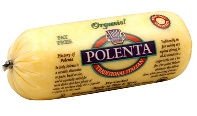 Tube of pre-cooked polenta