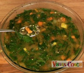 Pressure cooked soup