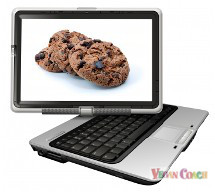 Computer screen showing chocolate chip cookies