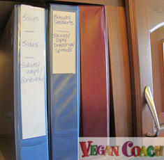Vegan Recipe Organizer 3-ring binders