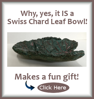 Why yes, you CAN buy this beautiful Swiss chard leaf bowl