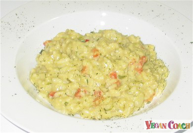Vegan Brussels Sprouts Risotto