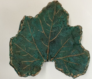 Sweet potato leaf gold rim
