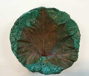 Sweet potato leaf round bowl