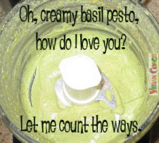 Pesto in my food processor
