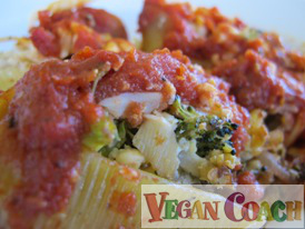 Photo of Vegan Caramelized Broccoli Stuffed Shells