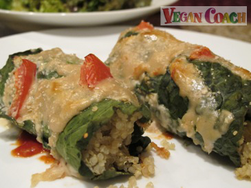 Vegan Quinoa and Kale Rollups