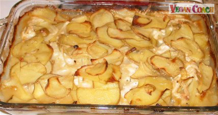 Cooked and browned Scalloped Potatoes
