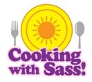 Cartoon of our Cooking With Sass Summer season plate with silverware