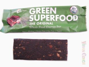 Green Superfood Bar with Wrapper