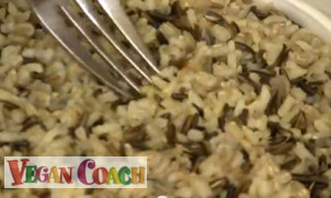 Cooked brown rice medley