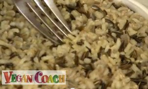 Steamed brown rice/wild rice/barley combo