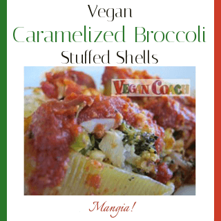 Mangia! These stuffed shells are so flavorful thanks to the caramelized broccoli...