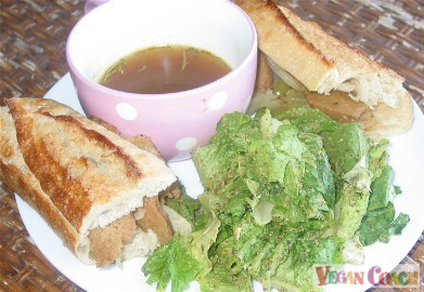 Vegan French Dip au Jus