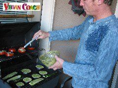 Jeff manning the grill